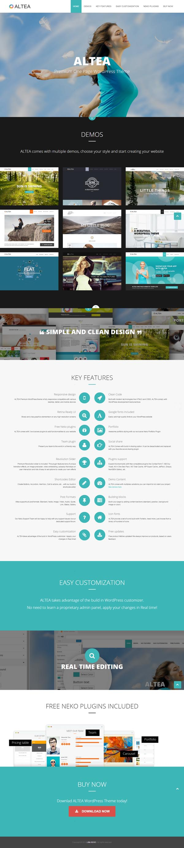 Altea - One Page WordPress Theme