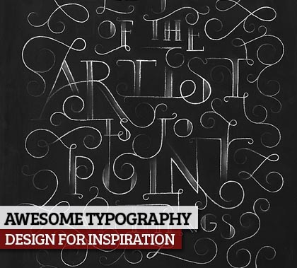 26 Awesome Remarkable Typography Designs Example for Inspiration