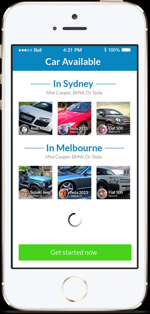 Carhood Mobile APP UI Design