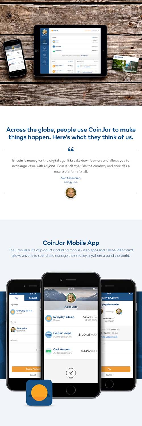 CoinJar Website & Apps