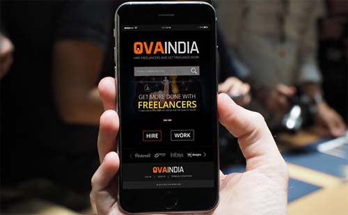 Design UI of Mobile App for Freelancing Company