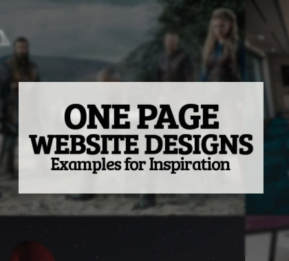 Best One Page Website Designs – 42 Examples Inspiration