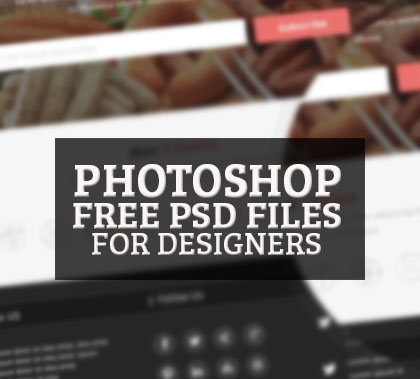 25 Best Free Photoshop PSD Files for Designers