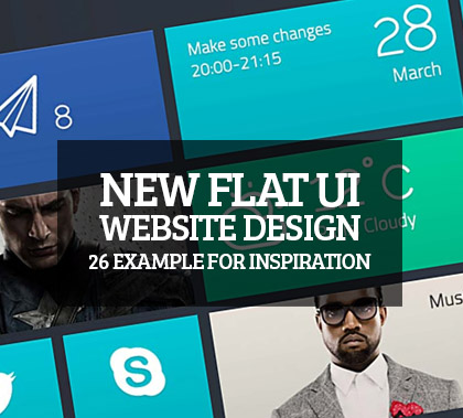New Flat UI Website Design – 26 Example For Inspiration