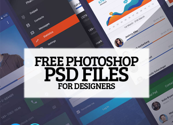 26 Amazing Photoshop Free PSD Files for Graphic Designers