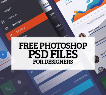27 Amazing Photoshop Free PSD Files for Graphic Designers