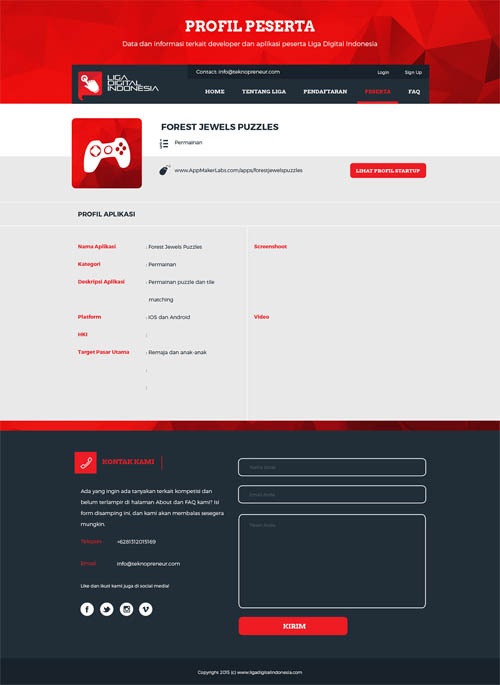 Liga Digital Indonesia Website UI