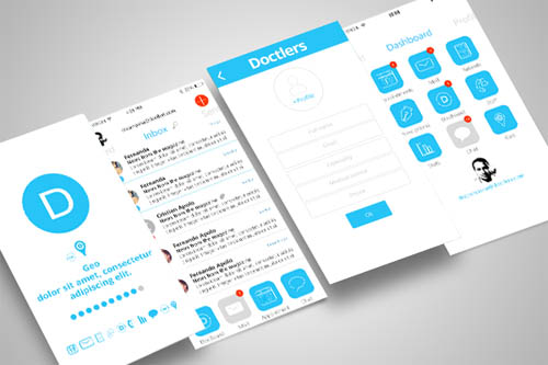 Doctlers App Designs
