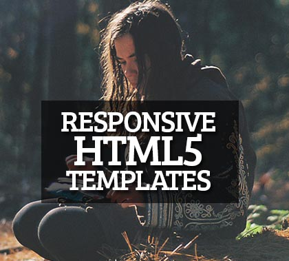 Post thumbnail of 12 Best Responsive HTML5 Templates for Designer