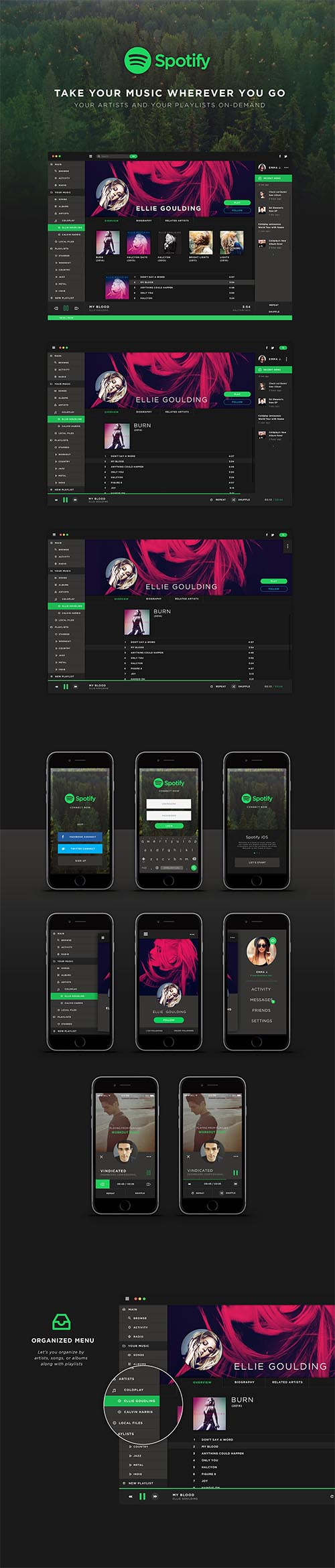 Spotify UI Redesign