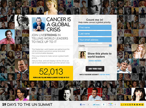 LIVESTRONG Face Up To It By Andrew Couldwell