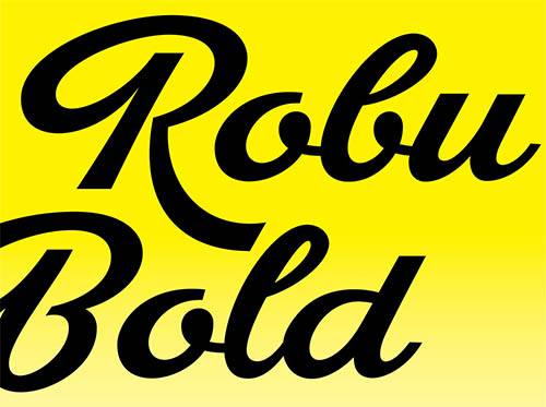 FONTS: Robu Bold By Andrei Robu