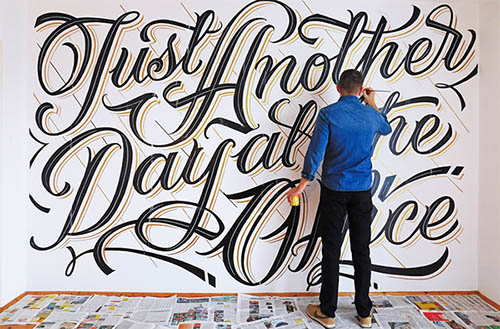 Typography Served'Just Another Day at the Office By Mateusz Witczak