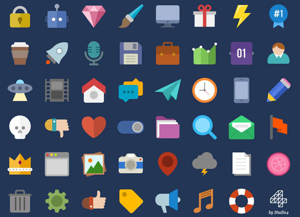 1100+ PSD UI Icons for Web - Free PSD