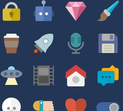 Post thumbnail of 1100+ PSD UI Icons for Web – Free PSD