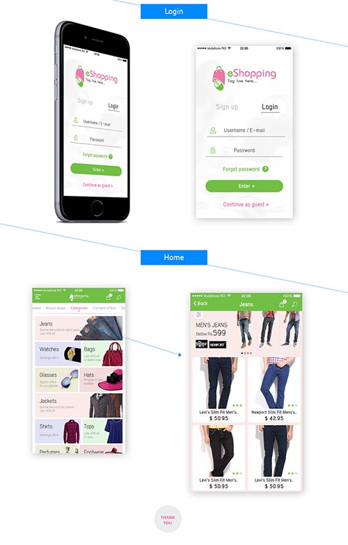 eShopping iOS Mobile APP UI & UX Inspiration Interface. By Nelli Ramu