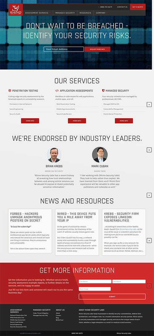 Security Web Design By Catalyst Concepts