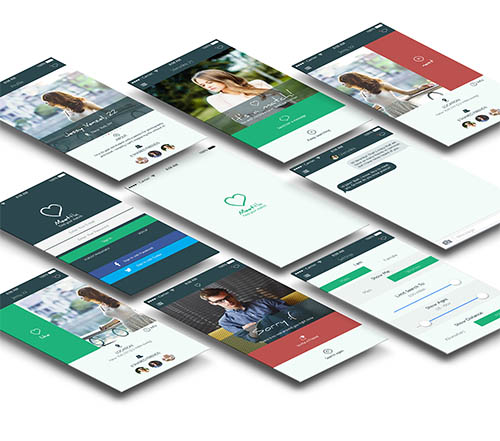 6 Free mobile app UI designs (Social, Dating, Hotel By Serhiy Kozachuk