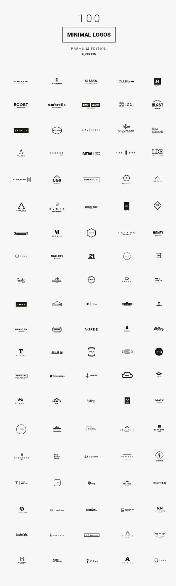 900+ Amazing Logos Bundle Available in .AI & .PSD - 25