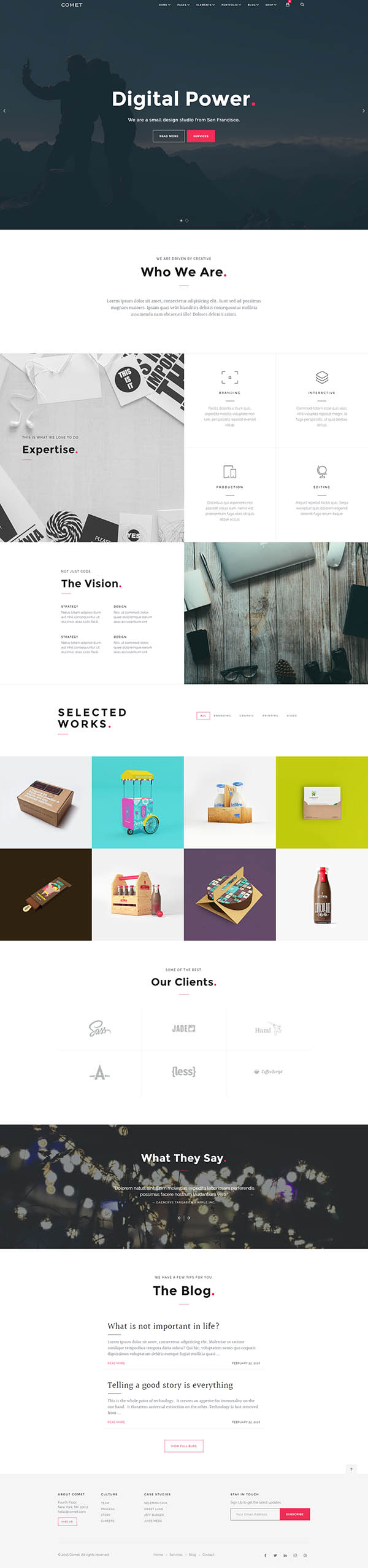 Comet – Creative Multi-Purpose WordPress Theme