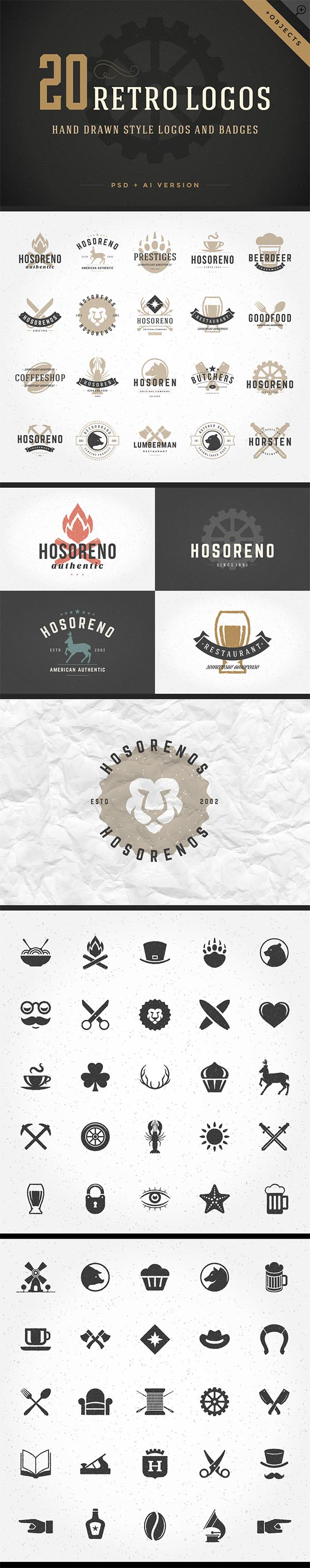 700 Retro Vintage Logotypes and Badges - 5