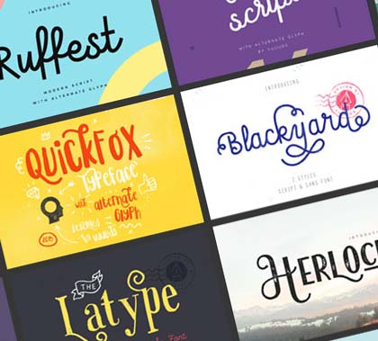 Post thumbnail of 54 Stylish Fonts and Graphics for Designers