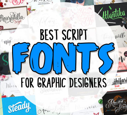 30 Best Script Fonts for Designers