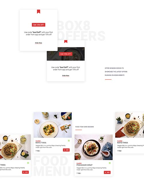 Box8 : Food ordering & delivery app UI/Ux Design By 17Seven : Design Studio