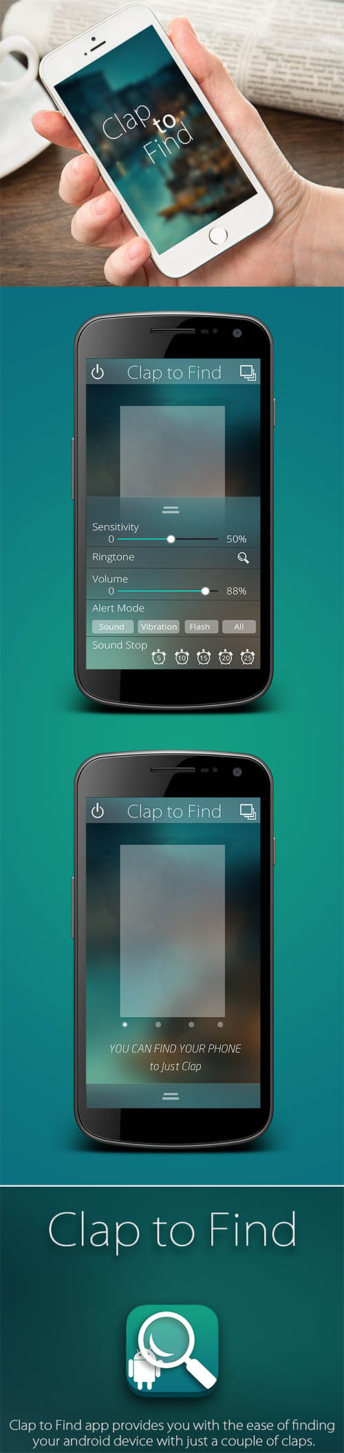 App_Design_Android_Clap_to_Find_vvk By vvk swami