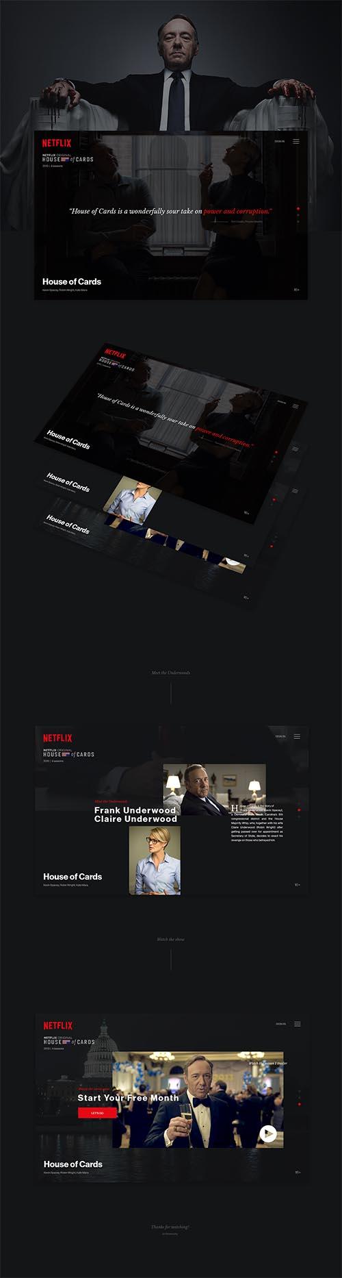 House of Cards website redesign By Jiří Wranovský