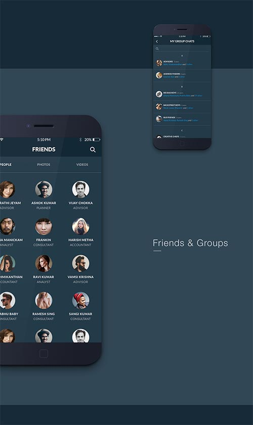 Fire Social App - Free Mobile UI Kit By Vadivel G