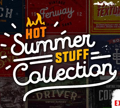 55 Fonts, Vectors and Badges Bundle for Designers