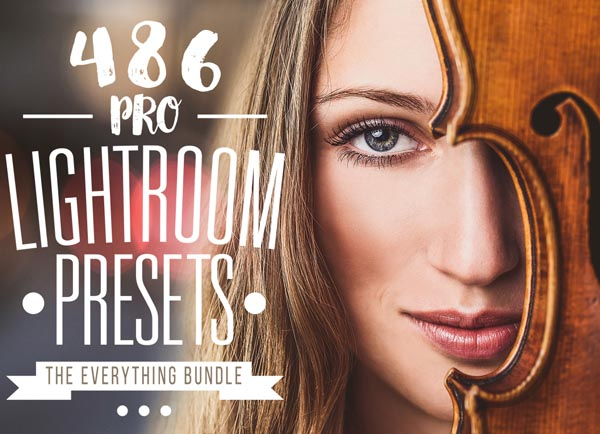 450+ Professional Lightroom presets for Photographers and Designers.