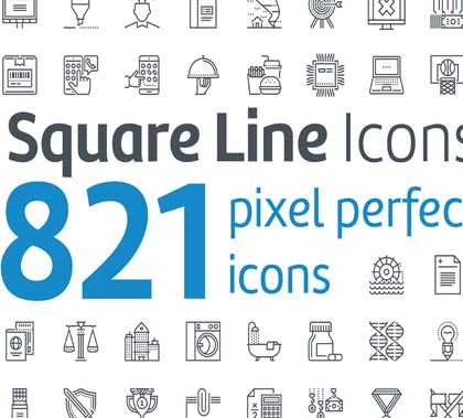 800+ Vector Line Icons for Graphics, Web and UI Design