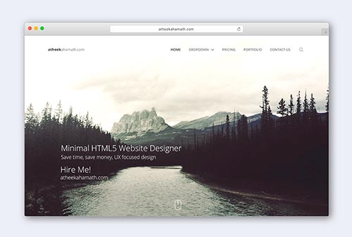 Simple Minimal HTML5 Website Design By Atheek Ahamath