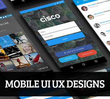 Web & Mobile UI UX Designs for Inspiration – 100