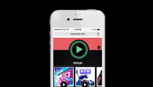 WeMusic Web Player By Kendall Arneaud