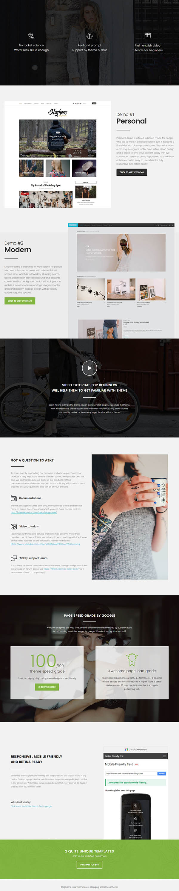 Blog Home – Responsive WordPress Blog Theme