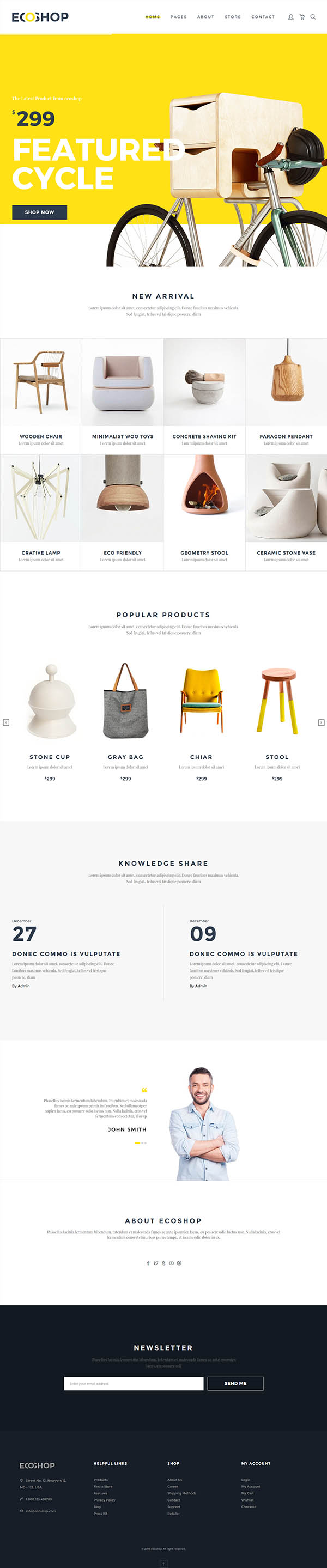 ECOSHOP – Multipurpose eCommerce HTML5 Template