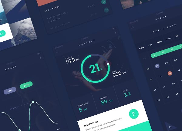 Freebie: Flat UI Kit for iOS and Android Devices