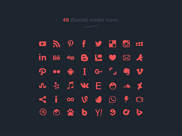 48 Vector Social Media Icons - Free Download