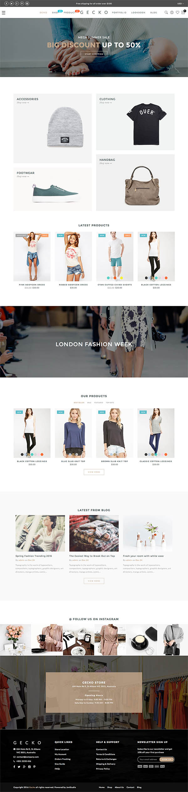 Gecko : Powerful Ajax WooCommerce Theme
