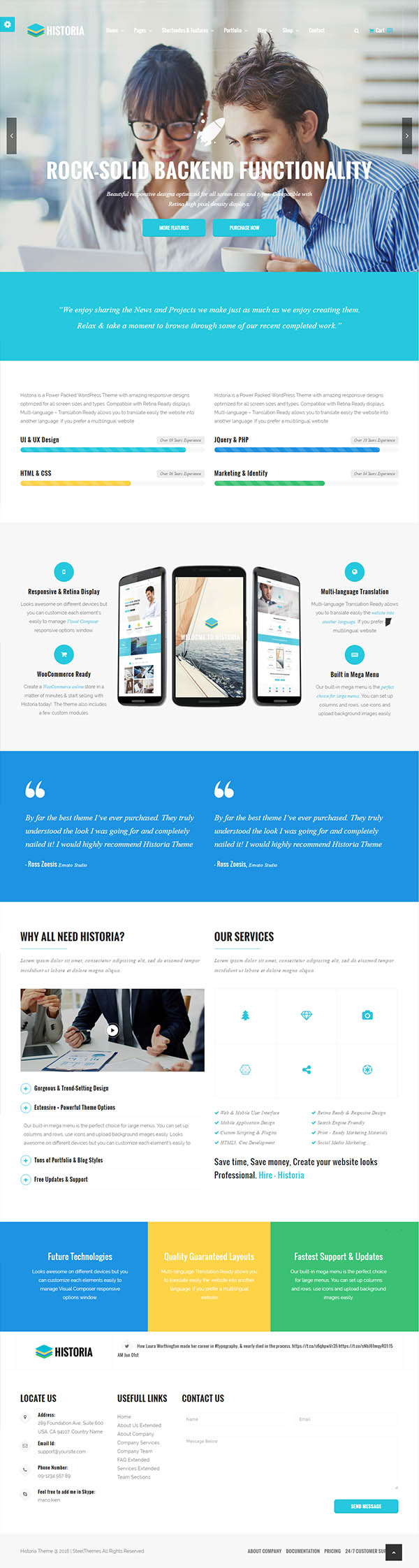 Historia – Responsive Multi-Purpose WordPress Theme