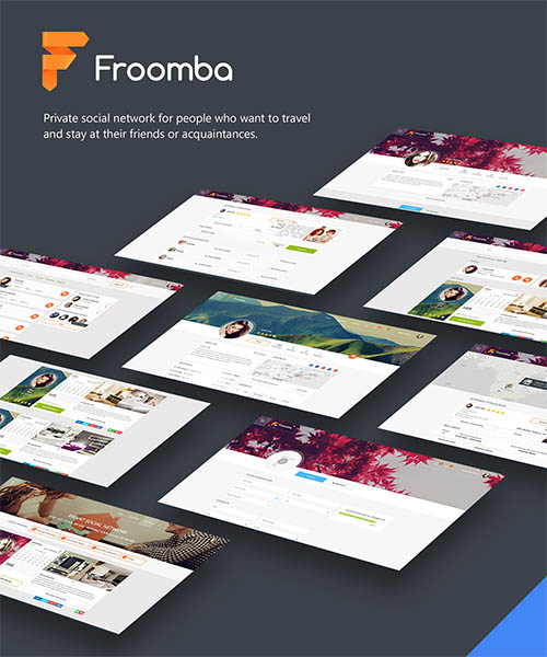 Froomba - social network for rent apartments By Julia Savchuk