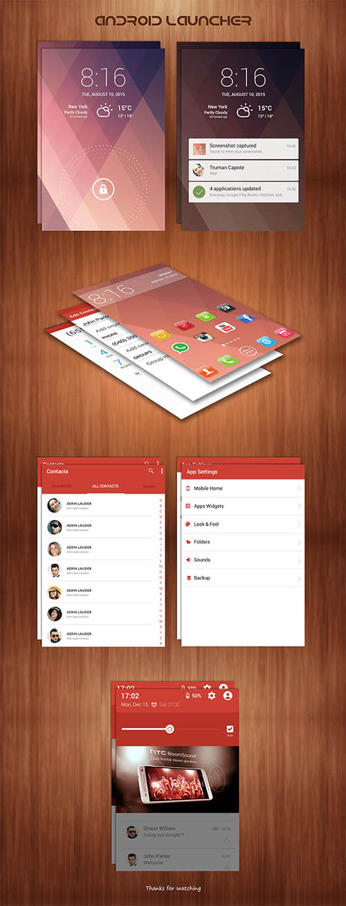 Free Android Launcher UI Kit By Chanchal Pramanik