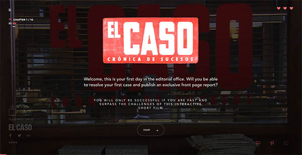 El Caso - Interactive Short Film By Lab RTVE.es