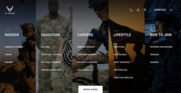 Airforce.com By MediaMonks