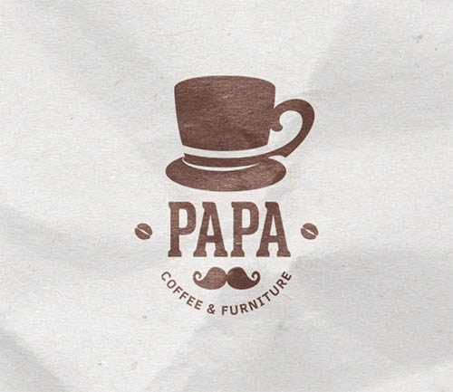 Papa Coffee & Furniture Logo by Dat Do
