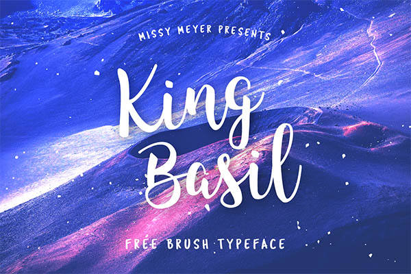 King Basil - Free Brush Font