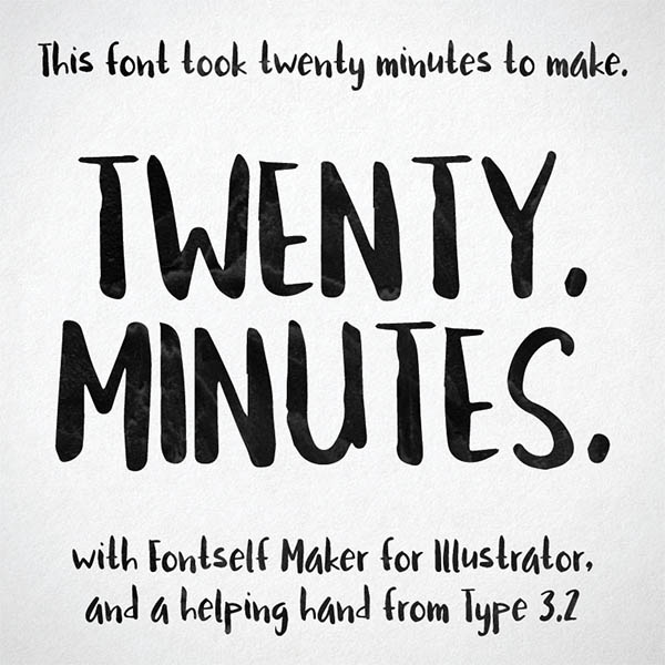Twenty Minutes - a free brushed handwriting font.